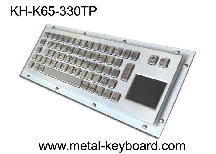 Rugged Industrial Keyboard with Touchpad , Stainless Steel Material