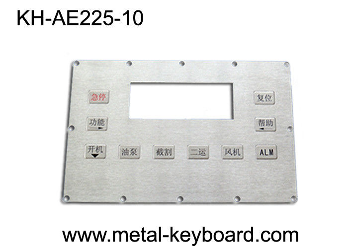 Custom Stainless steel Panel mount Keypad Kiosk with 10 Keys for harsh environment