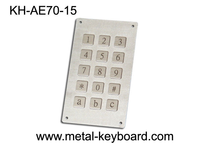 Kiosk Metal Numeric Keypad with 15 Keys for Public System Weather - proof
