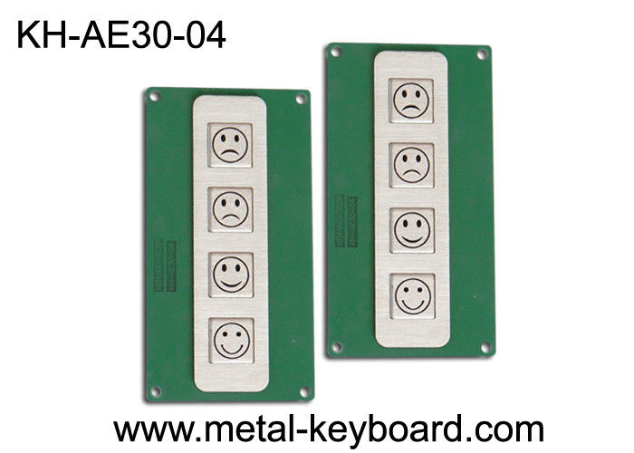 4 Keys Stainless Steel Metal Keypad for Customer Service Evaluation Device