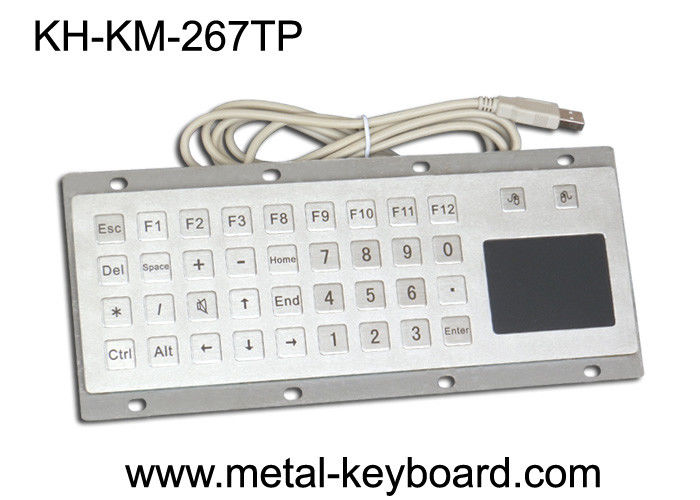 Custom Mine Vandal proof Metal Panel Mount Keyboard with Touchpad Mouse