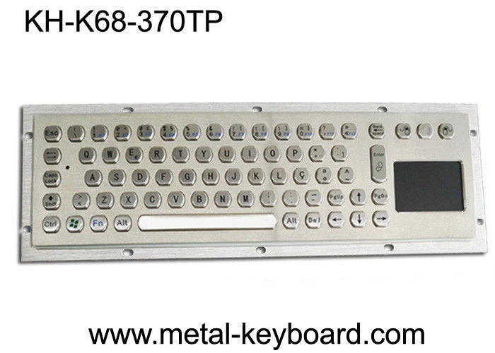 Water Proof Industrial Computer Keyboard / Metal SS Panel Mount Keyboard with Touchpad
