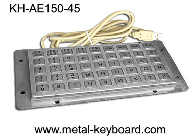 الصين 45 Keys Liquid proof / Vandalproof industrial keyboards in metal , USB interface مصنع