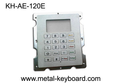 Stainless Steel Gas Station Rugged Keypad with 20 Keys , Panel Mount Keypad